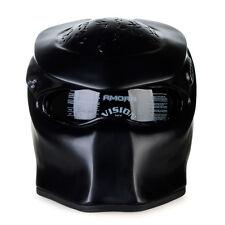 PRS Custom Handmade Motorcycle Predator Helmet Black DOT Biker Harley Davidson