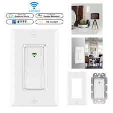WiFi Smart Light Switch US Plug 2000W Wireless Remote Control In-Wall Switch~