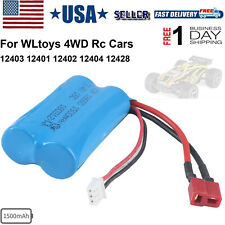 7.4V Lipo Battery 1500mAh Rechargeable Universal for WLtoys 4WD RC Cars Replace