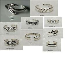 massiv Sterling Silber 925 Zehenring Mädchenring offen größenflexibel 46 - 51