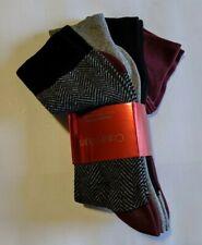 4 Pack Calvin Klein Dress Socks Mens 7-12 Burgundy Black Gray Plain Patterned