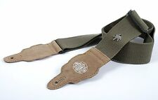 Gaucho Army Green Ultra Tough Hemp Series Guitar Strap - GST-100-AGN
