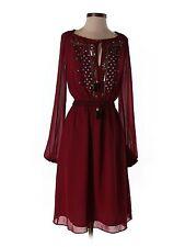 New Women Altuzarra for Target Ruby Hill Peasant Boho Sequin Sheer Dress Size 2