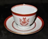 Copeland Spode NEWBURYPORT Y3360 Red Coffee or Tea Cup & Saucer Set