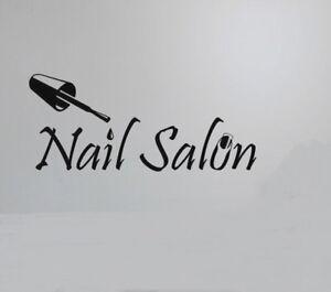 SMALL nail salon bar beauty hair shop window sign vinyl graphic sticker wall art