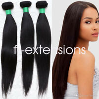 100g Brazilian Peruvian 100% Virgin Human Hair Extensions Wefts 7A Weave UK