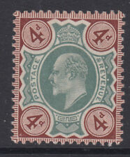SG 236a 4d Green & Chocolate Brown M24 (1) in very fine and fresh unmounted mint