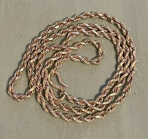 Solid Silver Rope Necklace/Chain 25g
