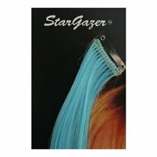 """Hair Extension One Piece Clip In Highlight Stargazer Cosmetics Care Sky Blue 17"""""""