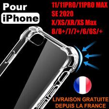 COQUE PROTECTION ANTICHOC IPHONE SE 2020 11 PRO MAX XR X 7 8 6 PLUS TRANSPARENTE