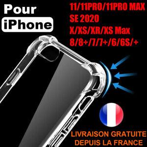 Hülle Schutz Stoßfest IPHONE Se 2020 12 11 Profi Max XR X 7 8 6 Transparent