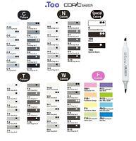 "Copic Sketch Marker Pen ""C,N,T,W,F,Black,white Color Series"""