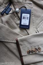 NWT Ralph Lauren Blue Label Designer Cotton Tan Blazer Tailored Jacket 6 $398