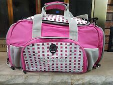 Reebok Pink & White Gym Athleisure School Duffel Travel Shoulder Bag Backpack