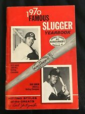 1970 FAMOUS SLUGGER YEARBOOK PETE ROSE ROD CAREW COVER NR MINT