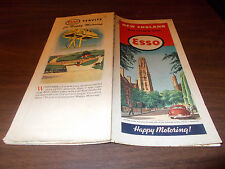 1946 Esso New England Vintage Road Map / Nice Graphics - Yale, New Haven Cover