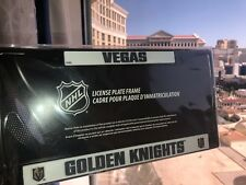 1 Las Vegas Golden Knights Black Metal Vehicle License Plate Frame