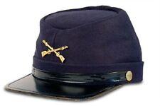 American Civil War Confederate Blue Union Wool Kepi Peak Cap Size S-2XL