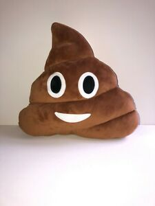 FUNNY SMILEY POO POOP SHAPED CUSHION PILLOW EMOJI STUFFED TOY PRANK GIFT HOLIDAY