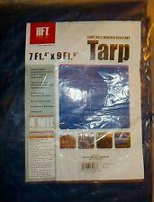 "HFT 7'4"" x 9'6"" blue tarp, light duty weather resistant, Harbor Freight Tools"