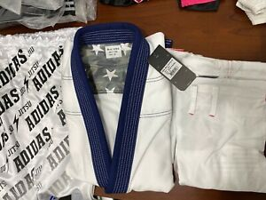 adidas Stars & Stripes A0 Jiu Jitsu Gi White w/Gi Bag