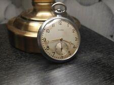 Vintage pocket watch Iskra USSR 17 jewels soviet molnija 1956