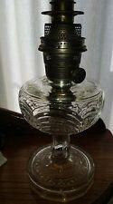 Vintage Clear Washington Drape Aladdin Kerosene Lamp Model B Burner