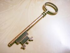 Large Key Pendant Skeleton Key Antique Bronze Tone Big Steampunk Charm 80mm