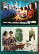 Singapore airlines krisworld entertainment system postcard set of 2 mint in pack