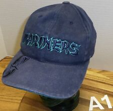 SEATTLE MARINERS BLUE HAT WITH ORIENTAL STYLE LETTERING ADJUSTABLE GOOD COND