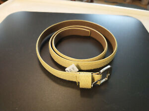 """BANANA REPUBLIC-Lime/Chartreuse reptile 3/4""""-wide womens belt - Size L - 323961"""