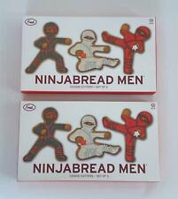 NinjaBread Men Cookie Cutters 2 Boxes 6 Cutters Kung Fu Party Fun New in Box
