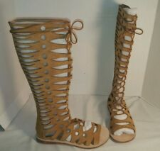 NEW JEFFREY CAMPBELL FREE PEOPLE VALENCIA TALL GLADIATOR SANDALS WOMEN'S SIZE 7