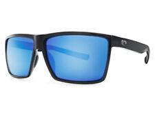 NEW Costa Del Mar RINCON Shiny Black / 580 Blue Mirror Glass 580G