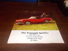 1960s Triumph Spitfire Sales Brochure