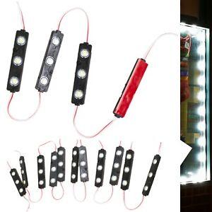 LEDUPDATES STOREFRONT LED LIGHT BLACK SHELL WHITE 6000K + UL POWER SUPPLY