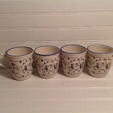 Set Of 4 Spose Hand Painted Wedding Mugs/Cups Made On Italy
