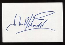 John Schneider Signed 4x6 Inch Index Card HUGE Autographed Dukes of Hazzard