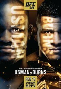 UFC 258 18x24 Promotional Poster Kamaru Usman vs. Gilbert Burns