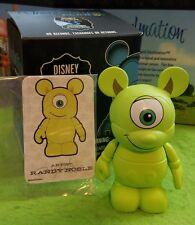 "DISNEY VINYLMATION 3"" Set 2 Park Mike Wazowski  Monsters Inc w Box & Card"