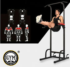 PRO CASA PALESTRA FITNESS POWER tower dip AB Pull/Chin Up Bar Stazione di allenamento
