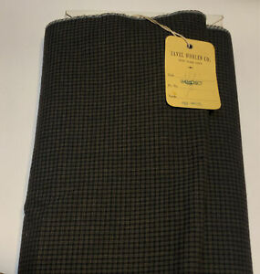 """Vintage Imported Wool Fabric Gingham Plaid By The Yard Tavel 60"""" Wide"""