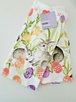 Celebrate Together EASTER Kitchen Towels   Set Of 2   BUNNIES -EGGS-Daffodils