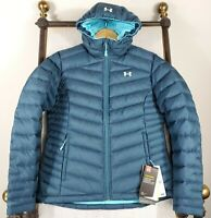 NWT UNDER ARMOUR Small 700 Goose Down Womens Hooded UA Storm Coat Jacket $250