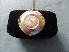 Vintage Timex Wind Up Mechanical Necklace Pendant Watch