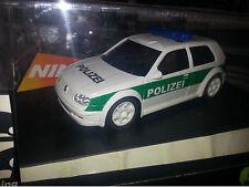 Ninco 50321 , VW Golf Polizei, Flashing Lights, Slot Racing auch SCX, Scalectrix