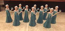 """Disney Frozen Elsa 10 Imperfect PVC Figure Lot Party CAKE TOPPER FIGURINE ~ 2.5"""""""