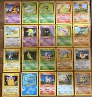 1999 Pokemon Base Set - All Common cards, Charmander, Pidgey, Pikachu you Choose