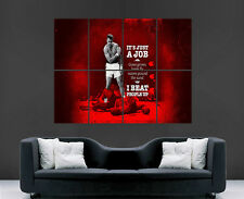 MUHAMMAD ALI POSTER  BOXING KNOCKOUT LEGEND  ART WALL  LARGE  IMAGE GIANT