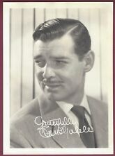 "Clark Gable, Famed Actor, Vintage 5"" x 7"" Studio Card, Facsimile Signature"
